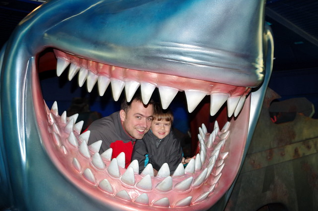 Dan and Carter in a Great White Shark