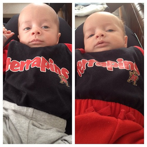 Hanging out with my favorite little Terp twins.
