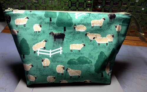 Carl the Sheep Wide-Mouth Zipper Pouch