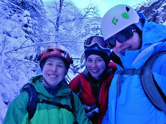 Clare, Becca, and Shannon at Ouray Ice Park