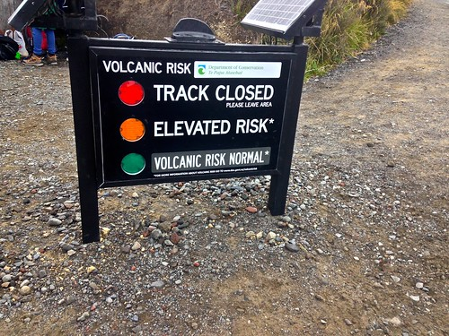 """Normal"" Volcanic risk on the crossing."