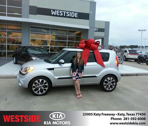Thank you to Emily Lumpkin on your new 2013 #Kia #Soul from Rubel Chowdhury and everyone at Westside Kia! #NewCar by Westside KIA