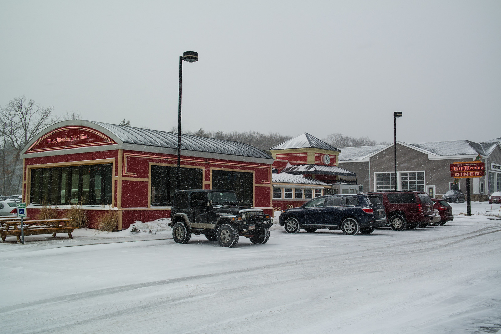 Snowy Miss Mendon Diner