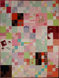 Baylor's Memory Quilt using Penny Patch Tutorial from Rachel with Stitched in Color