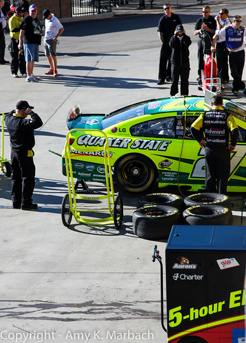Working on Paul Menard's Chevy