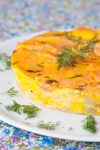 Pastís de patata i salmó 2