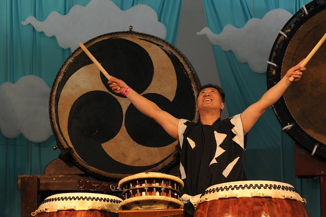 Hiro Kurashima of Taiko Masala. Photo by Mike Ratliff.