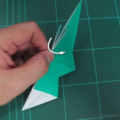 วิธีพับกระดาษเป็นรูปหมู (Origami Pig) 004