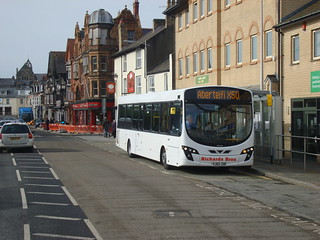 Wright Pulsar bus in Aberystwyth on X50 service to Cardigan