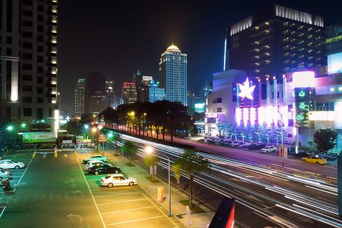 longexposure car skyline night landscape nightscape taiwan olympus taichung 夜景 台中 em1 lighttrail 車軌 中港路 台灣大道 1240mmf28