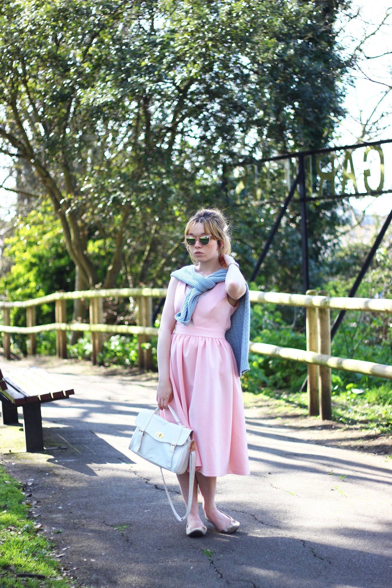 6pasteloutfit, pastel, asos, pink, blue, spring, summer, 2014, trend, fashion, style, retro, cat-eye sunglasses, knitwear, 50's, vintage, inspired, high street, personal style, stylepeaches, blog, outfit, look