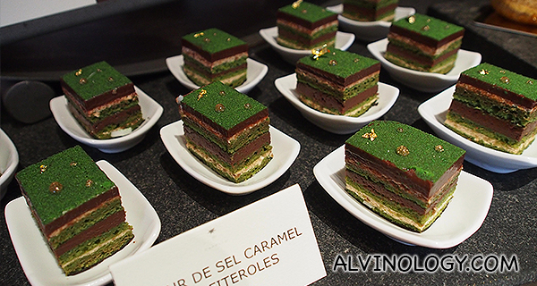 Prepared the French way, all the cakes are made with several layers of different flavours like this one