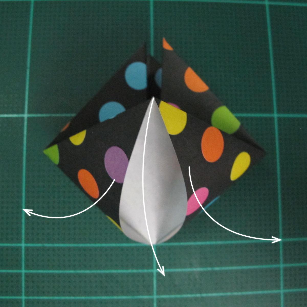 การพับกระดาษเป็นถุงใส่ขนมแบบญี่ปุ่น (Origami Sambo) 005