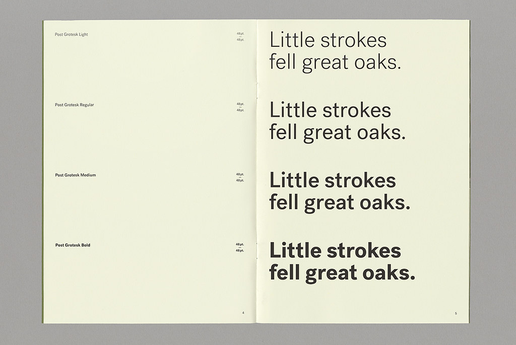 Post Grotesk Weights