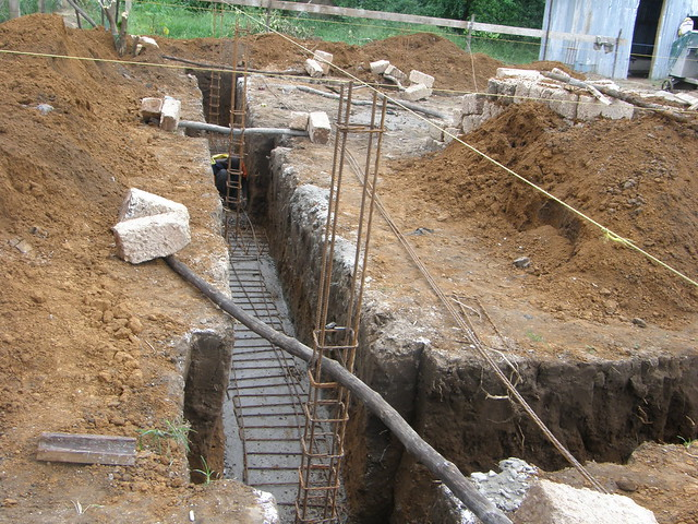 Steel & concrete in foundations