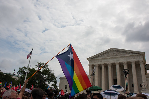 Outside the Supreme Court following the OBERGEFELL v. HODGES decision, June 26, 2015