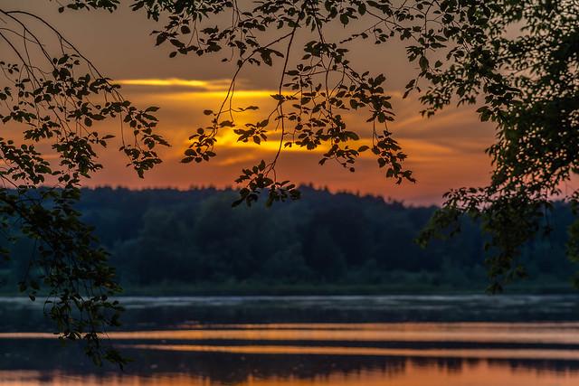 Mendon Ponds sunset