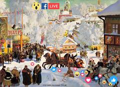 Масленица в Салехарде, прямой эфир из ОЦНК live facebook