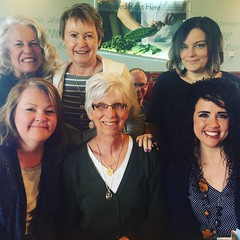 All 5 of these women have had a professional impact on me and on my career in special ed. We gathered together today to honor Connie [front and center] as she will be retiring next month. Lots of love around the table today. #friends #specialeducation #il
