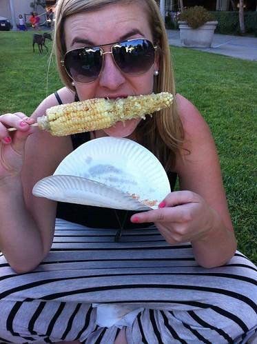 farmers market corn.
