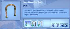 Island Wedding Arch