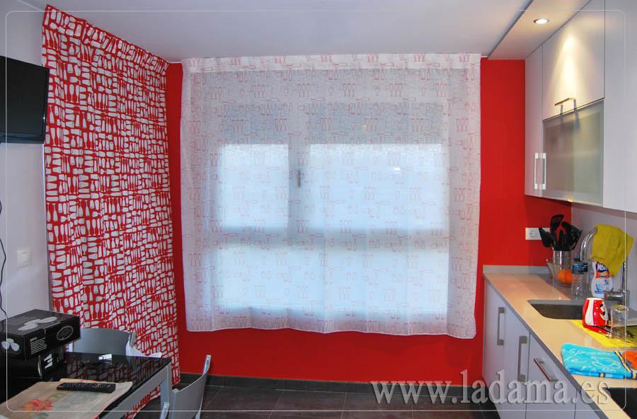Cortinas modernas cocina roja flickr photo sharing - Cortinas modernas cocina ...