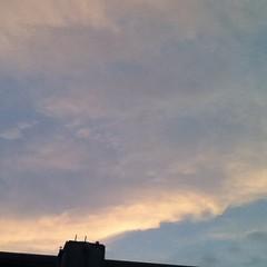 【写真】いつぞやの夕焼け雲。 Sunset clouds [ the other day ]. #雲 #空 #cloud  #sky