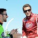 James Hinchcliffe and Marco Andretti share a laugh before practice