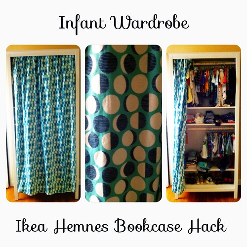 DIY: Ikea Hemnes Bookcase Hack - Infant Wardrobe by Sanctuary-Studio