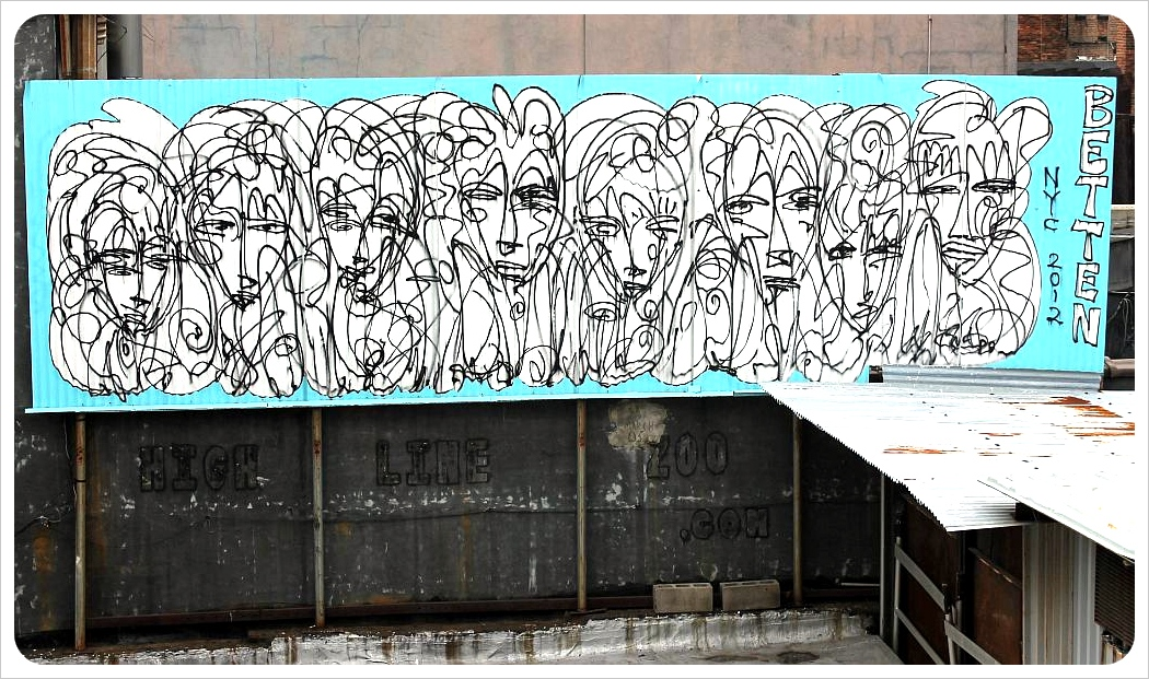 new york city street art high line
