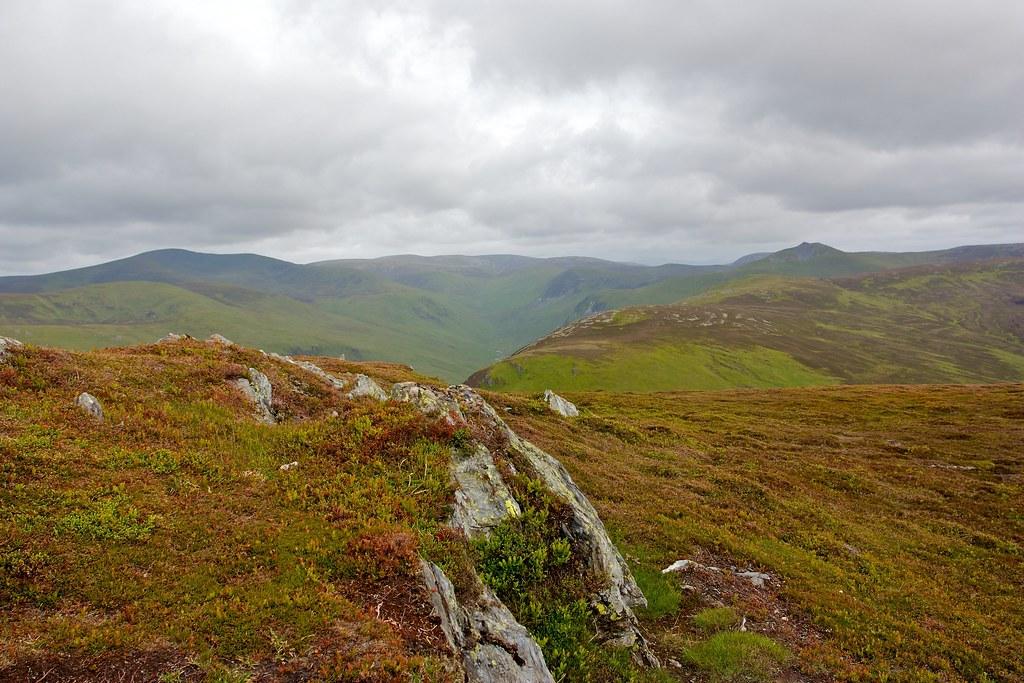 Gleann Taitneach hills from Ben Gulabin