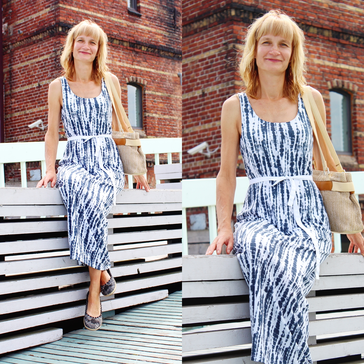 Maxi dress, H&M maxi dress, style after 40