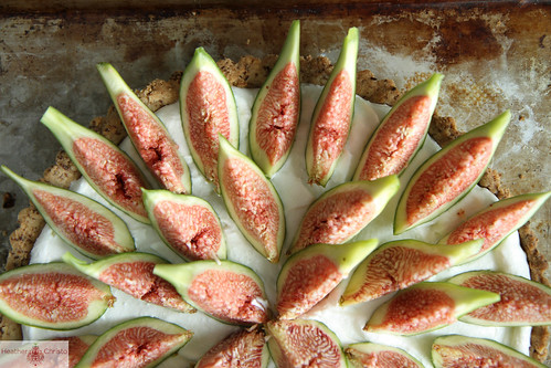 Coconut Cream Tart with Figs
