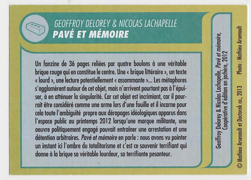 pavé et momoire back