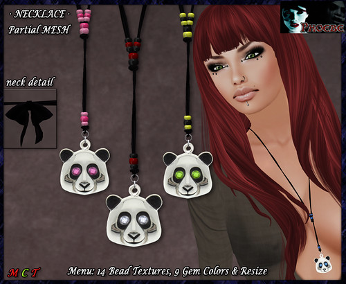 *P* Panda Necklace ~Colors~ (P-MESH)