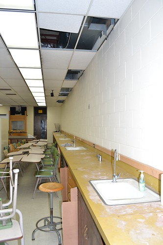 The Lake Holcombe High School Science lab was in dire need of improvement.
