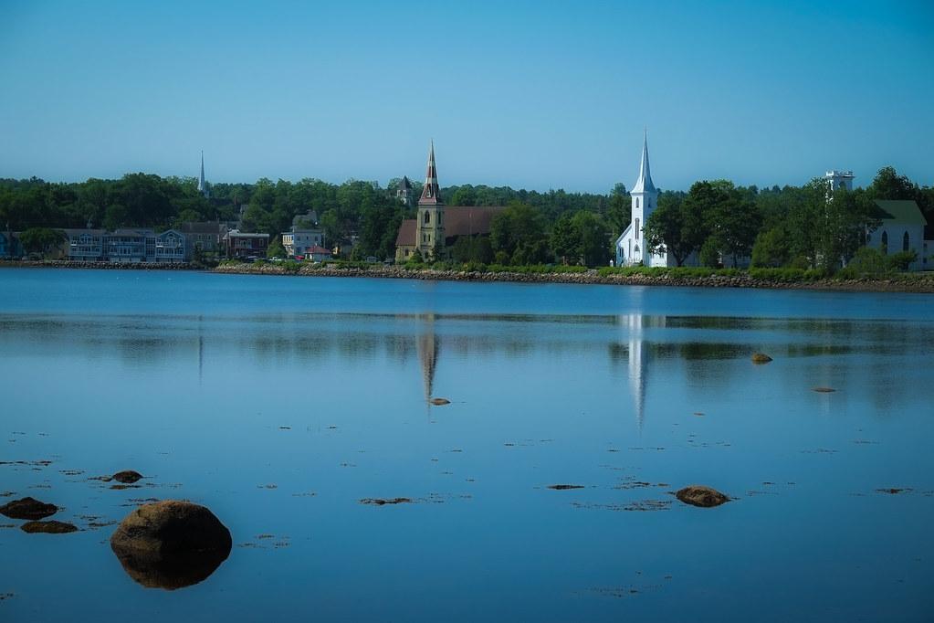 Mahone Bay Churches Low Tide