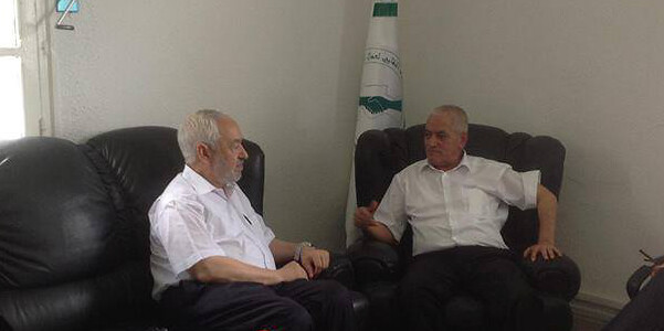 Rached and Ghannouchi and Houcine Abbassi, August 19, 2013. Photo credit: Rached Ghannouchi Facebook page