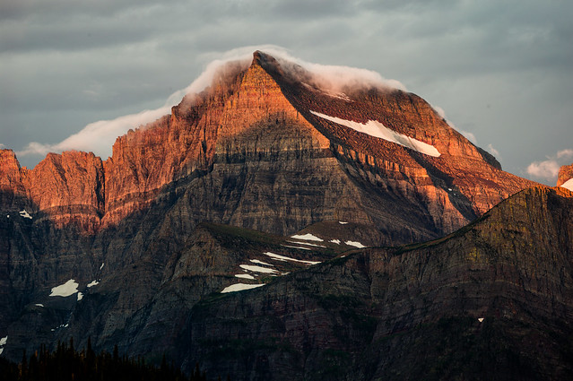 East Glacier Dawn  in Many Glacier National Park Montana
