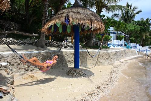 Lina hanging out at Casa de la Playa