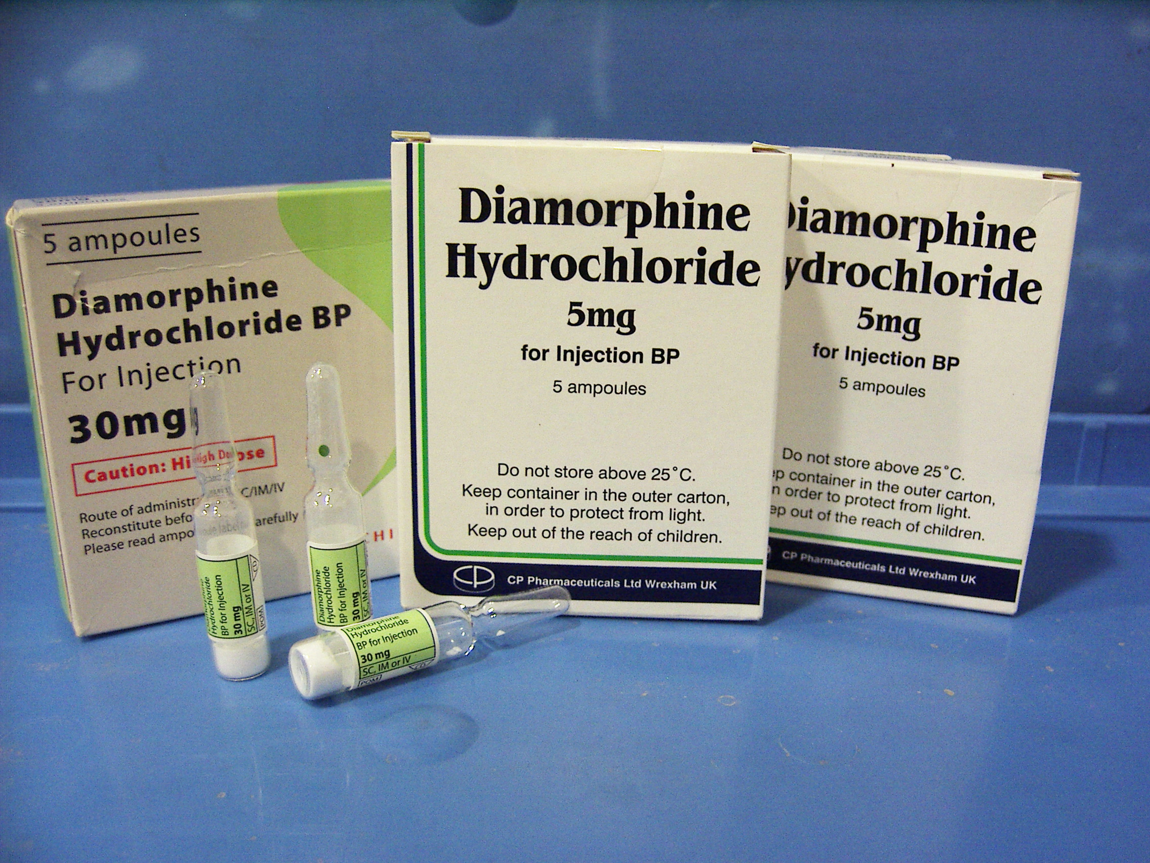 pharmaceutical heroin diacetylmorphine ampoules