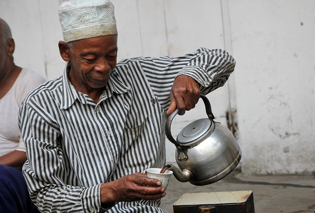 Coffee man in Zanzibar