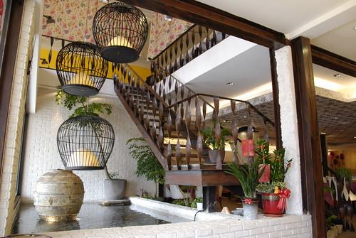 餐廳設計-義大利麵餐廳小花園