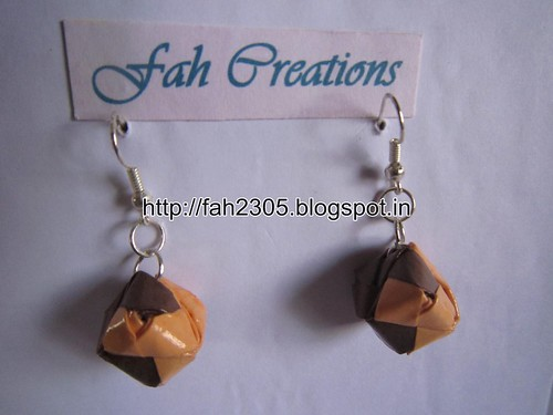 Handmade Jewelry - Origami Paper Box Earrings (Small) (9) by fah2305