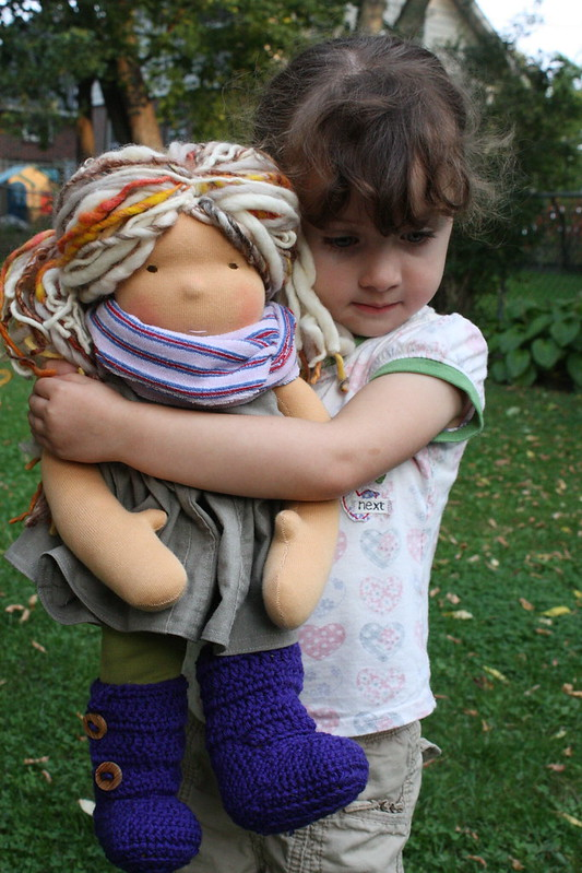 """Thea - a 16"""" waldorf inspired doll"""