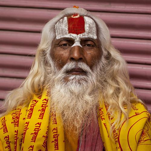 nepal portrait monk kathmandu hindu hinduism sadhu thamel