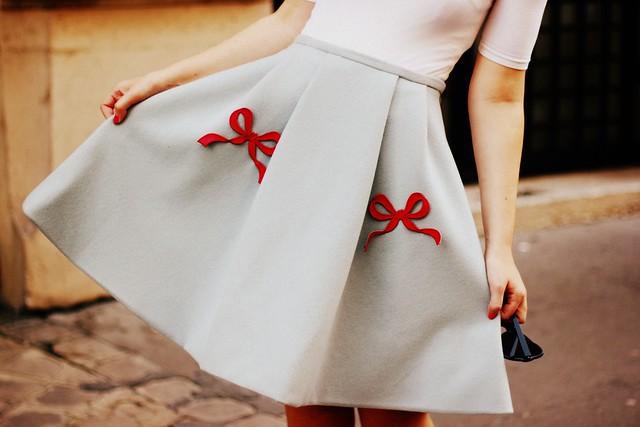 Vivetta Bow Skirt