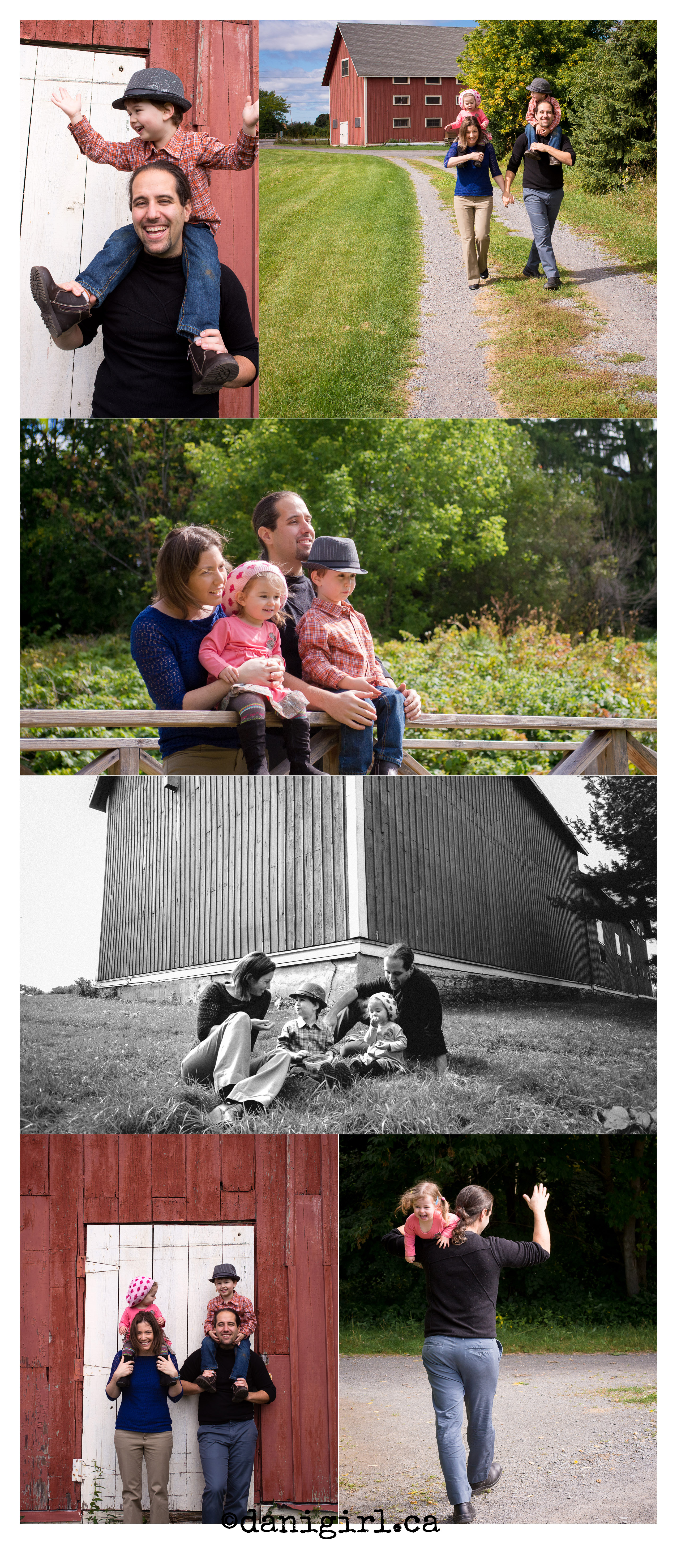 photos of a family taken near experimental farm in ottawa