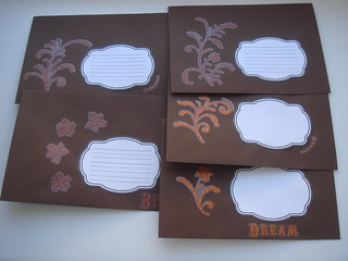 Brown glittery envelopes https://www.etsy.com/shop/FancyEnvelopes