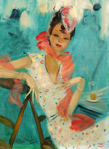 004-La chica de la cafeteria-Jean Gabriel Domergue